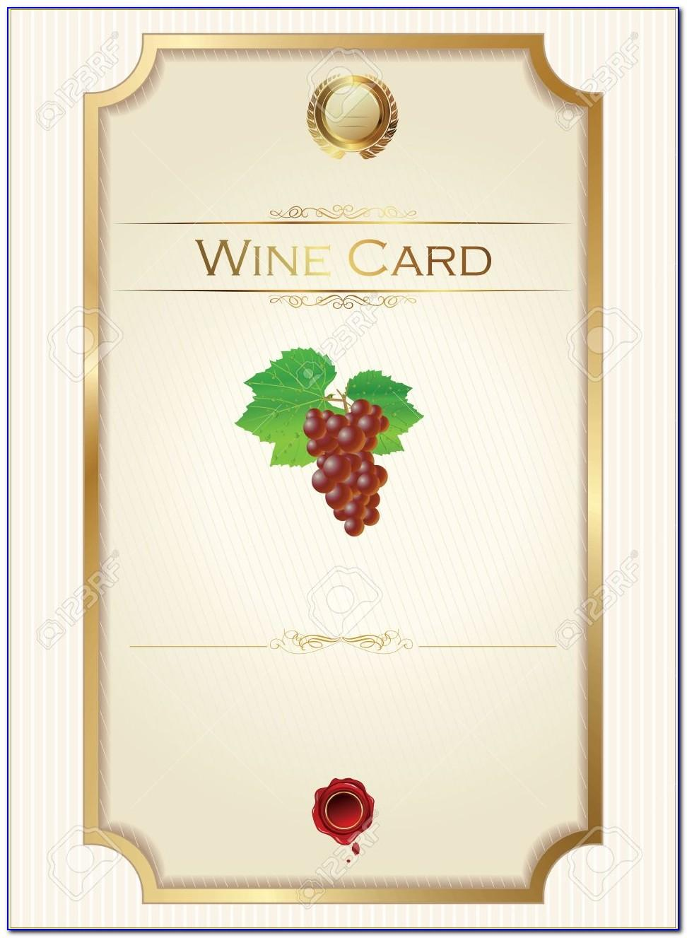 Mini Wine Bottle Label Template Free