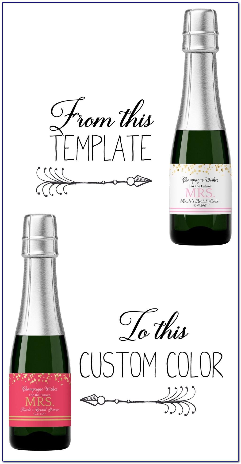 Mini Wine Bottle Tag Template