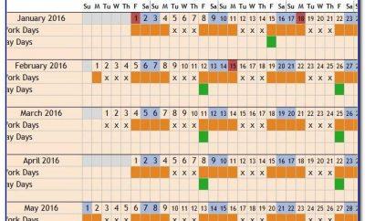 Monthly Rotation Calendar Template