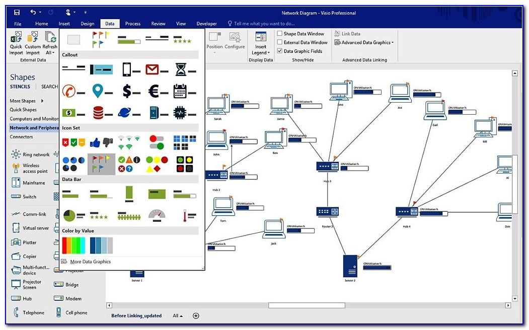 Ms Visio Network Diagram Template