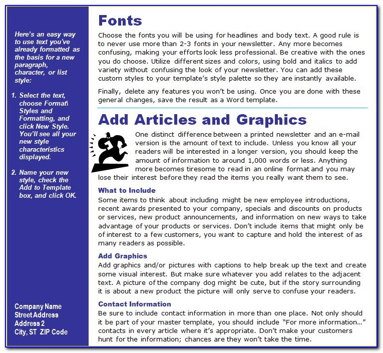 Ms Word Newsletter Template 2007