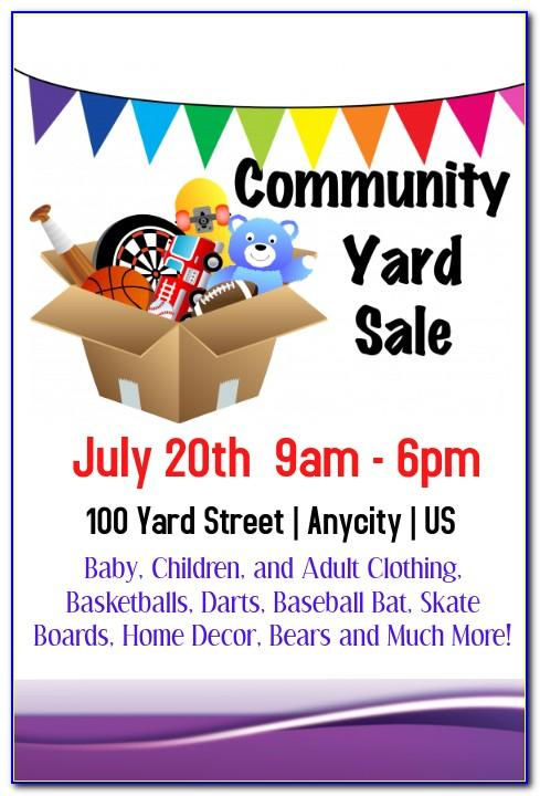 Neighborhood Yard Sale Flyer Free Template