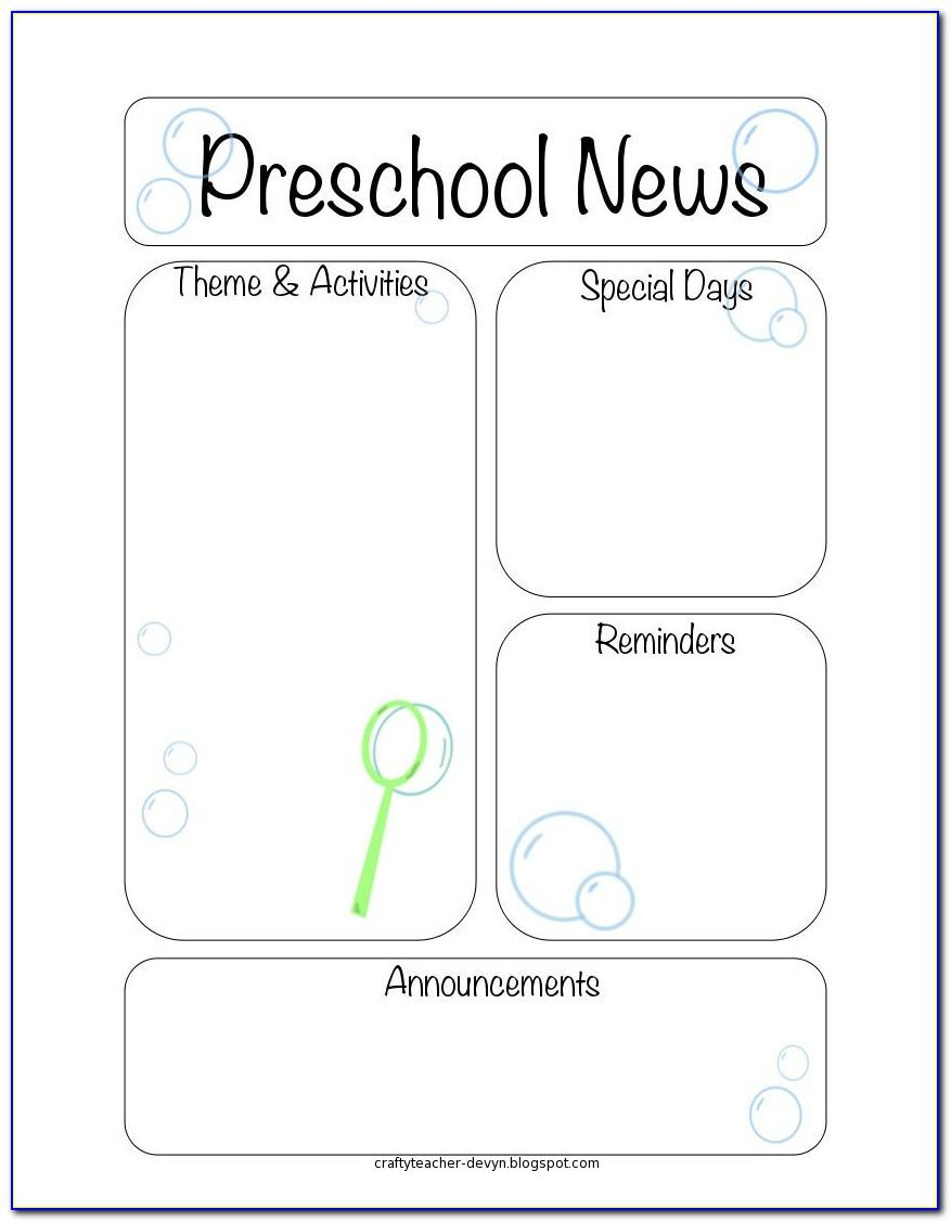 Newsletter Template For Teachers Free