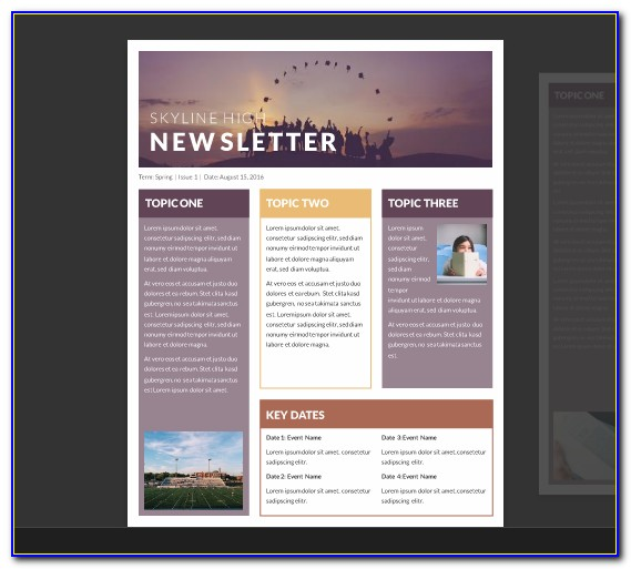 Newsletter Template Microsoft Word 2013