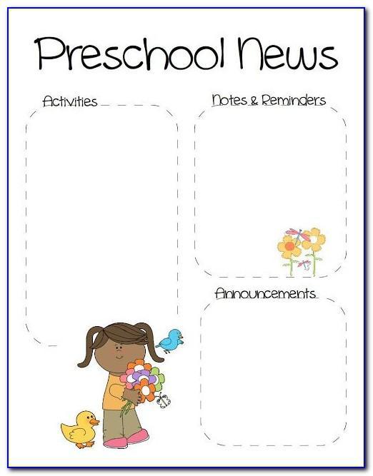 Newsletter Templates For Elementary Teachers