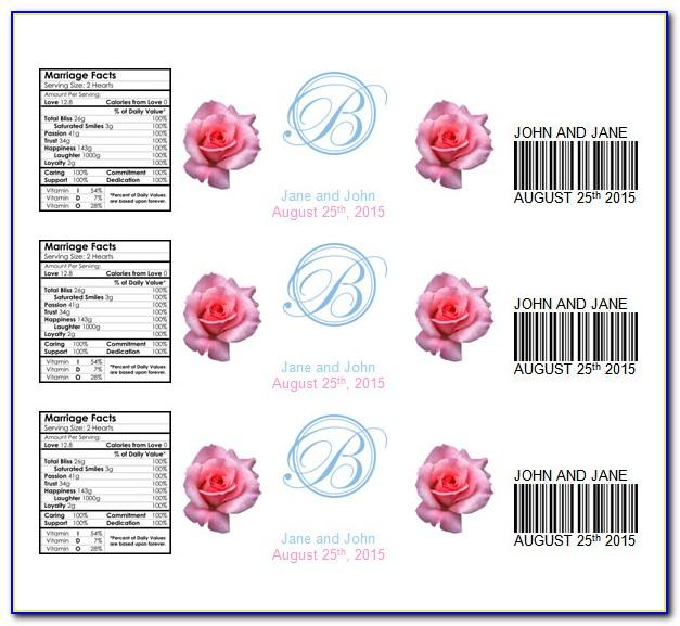 Personalized Water Bottle Labels Wedding Template Free