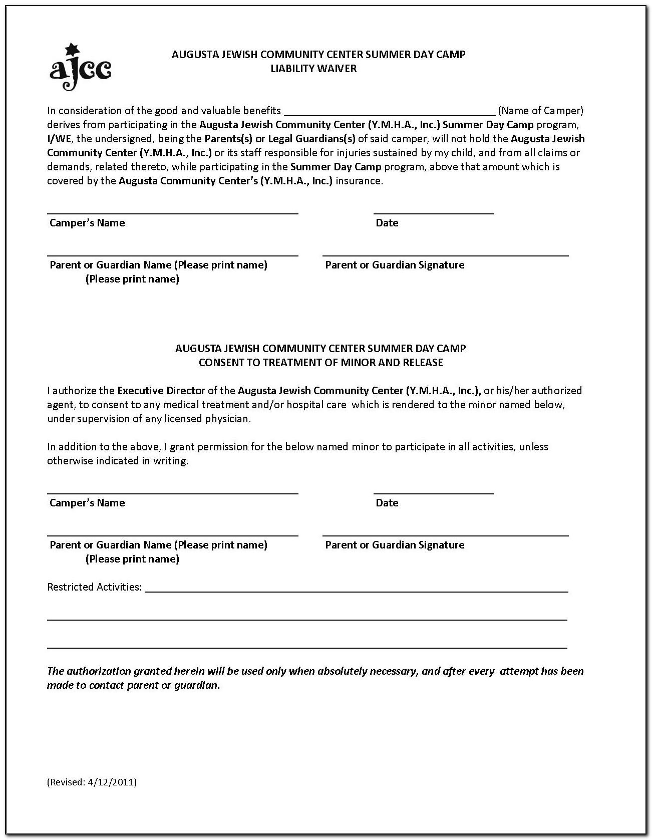 Photo Waiver Release Form Template Free