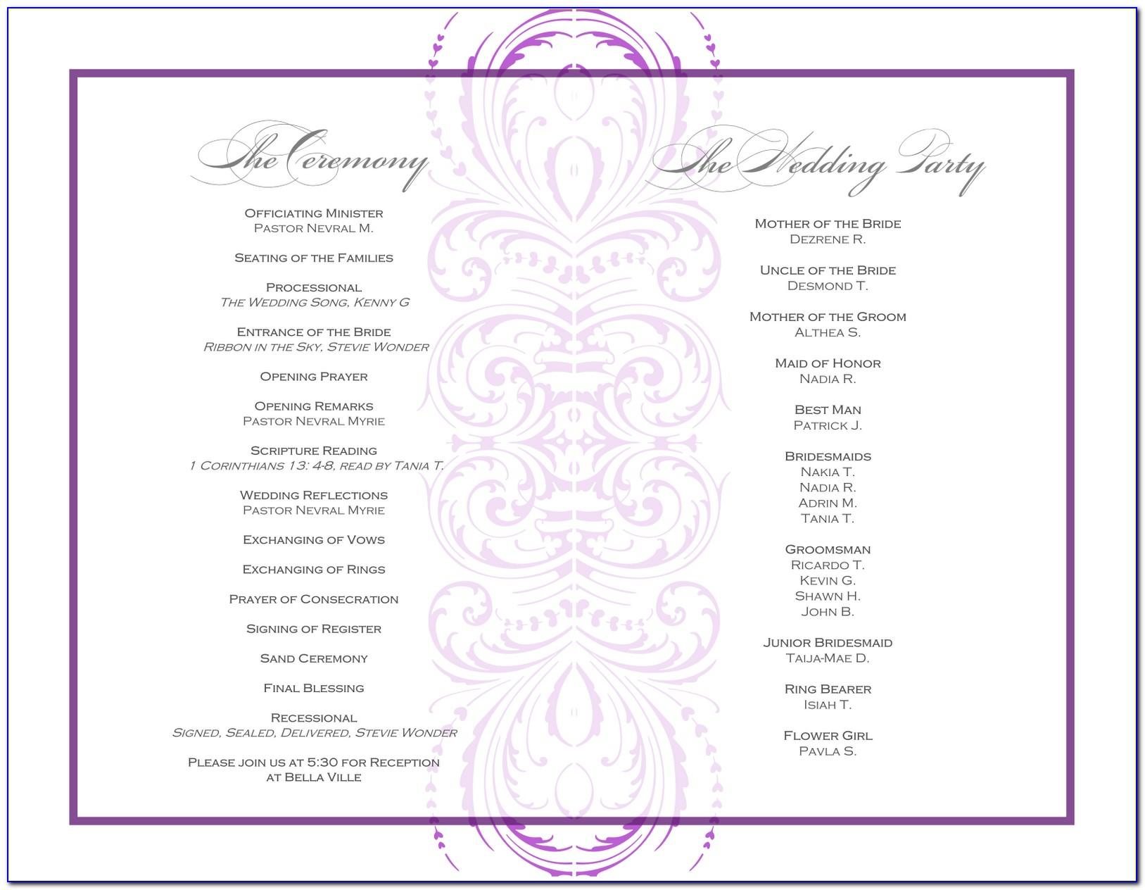 Post Wedding Reception Invitation Wording Template