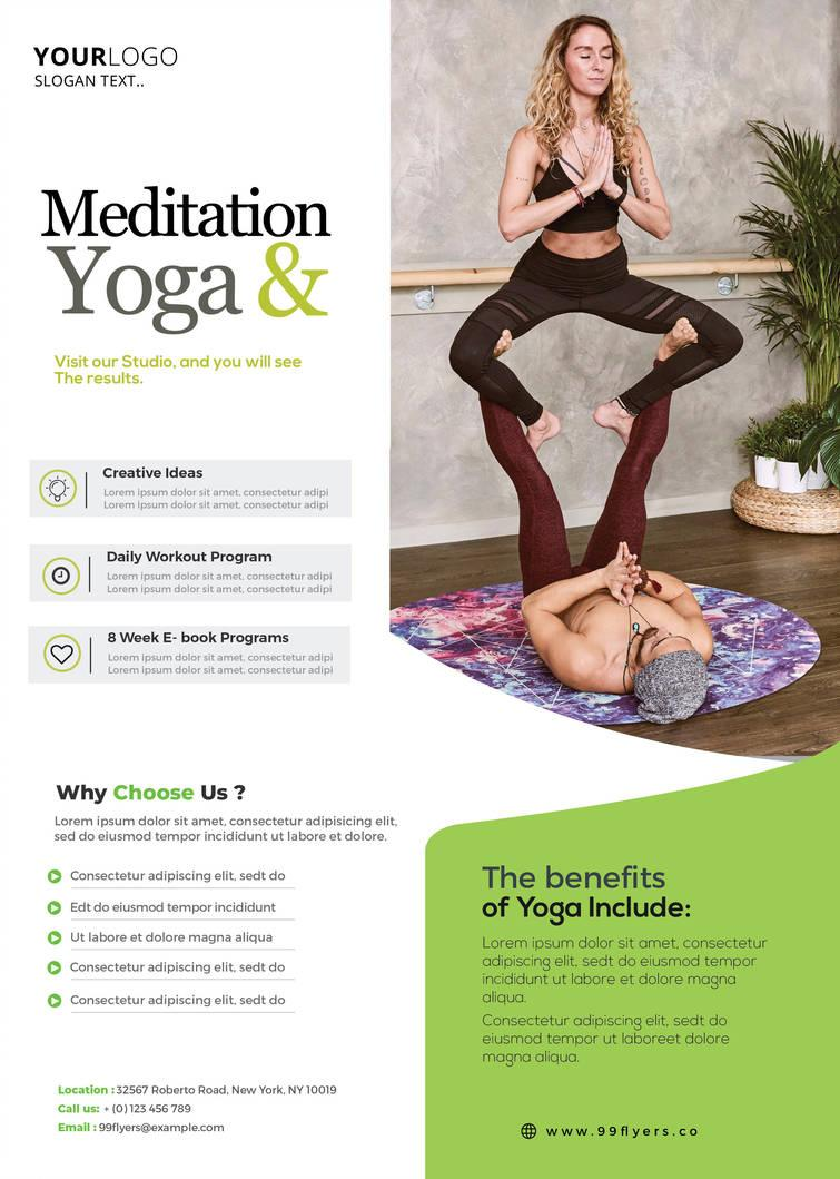 Printable Yoga Flyer Template Free