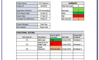 Project Reporting Template Excel