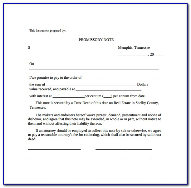 Promissory Note Template Word Uk