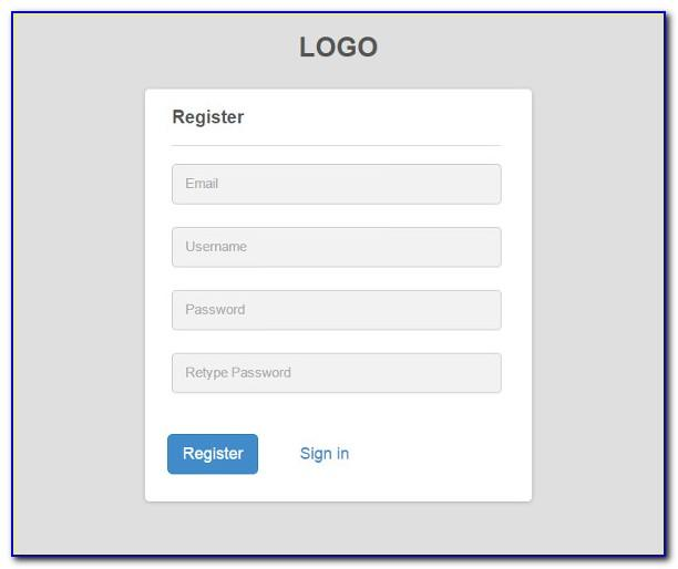 Registration Form Template Free Download W3layout