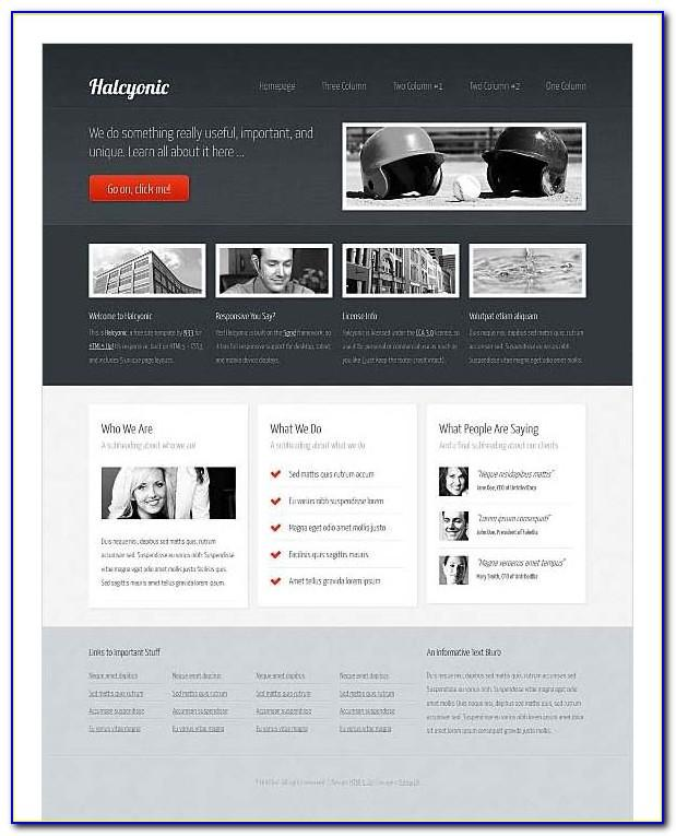 Responsive Web Design Templates For Dreamweaver