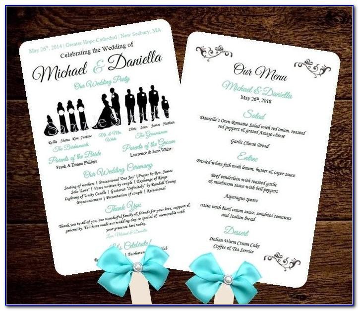Rustic Wedding Program Fan Template Free