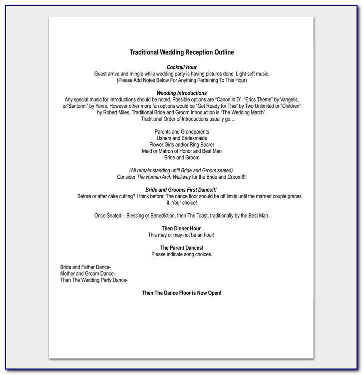 Sample Wedding Reception Playlist