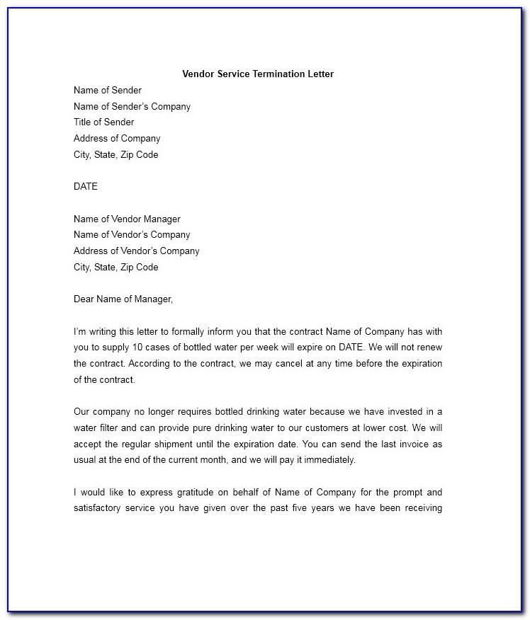 Samples Of Termination Of Employment Letter