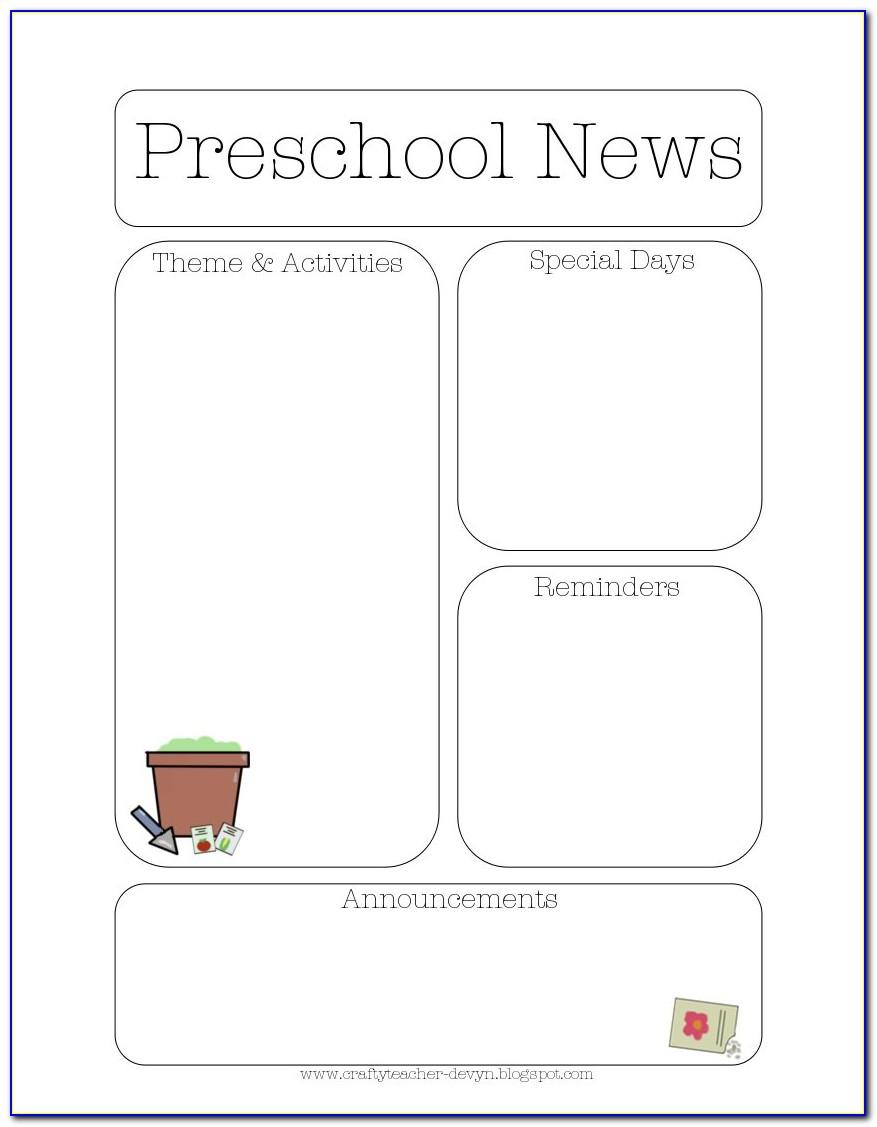 School Newsletter Templates For Teachers Free