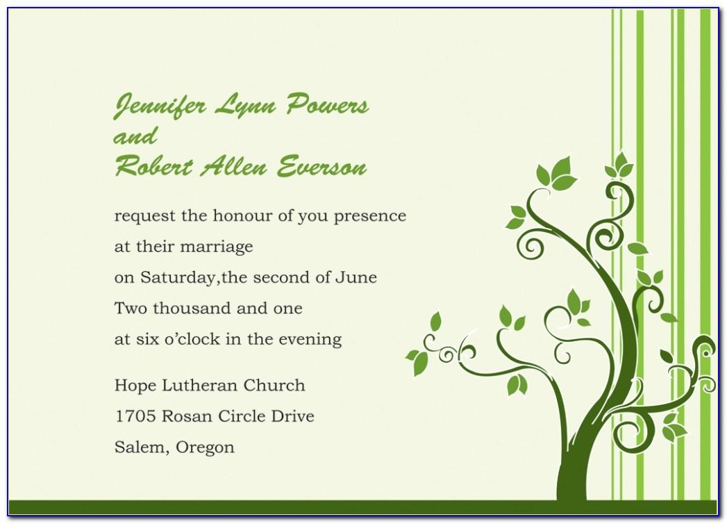Second Wedding Reception Invitation Wording Samples