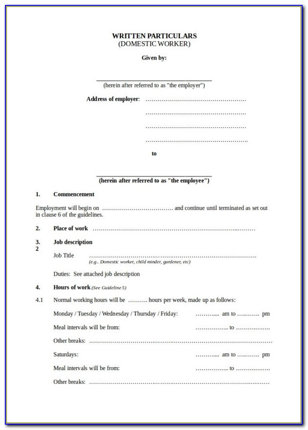 Staff Loan Agreement Template South Africa