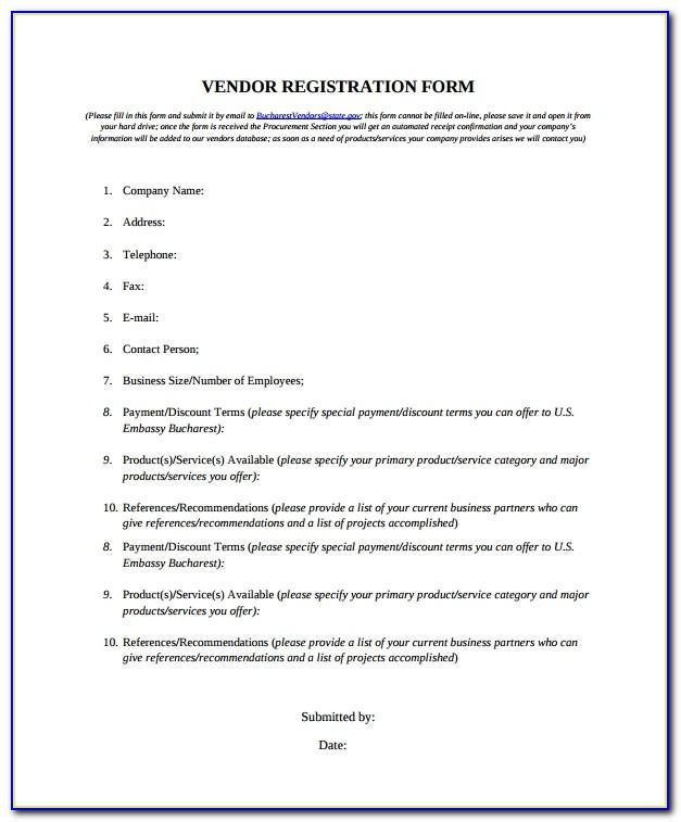 Supplier Registration Letter Sample