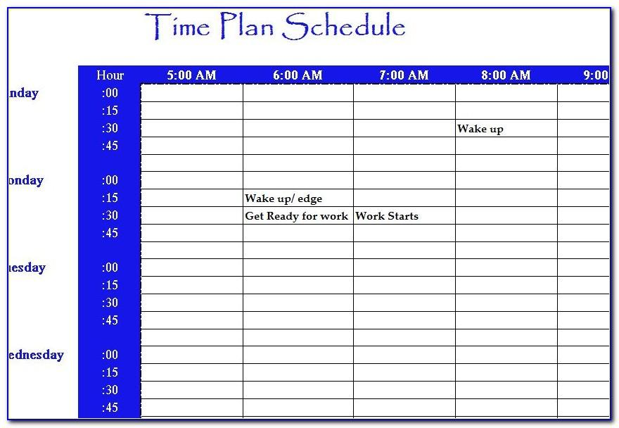 Time Schedule Template Excel Free