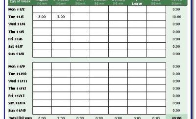 Timesheet Template Excel Uk