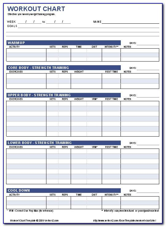 Training Log Template Excel