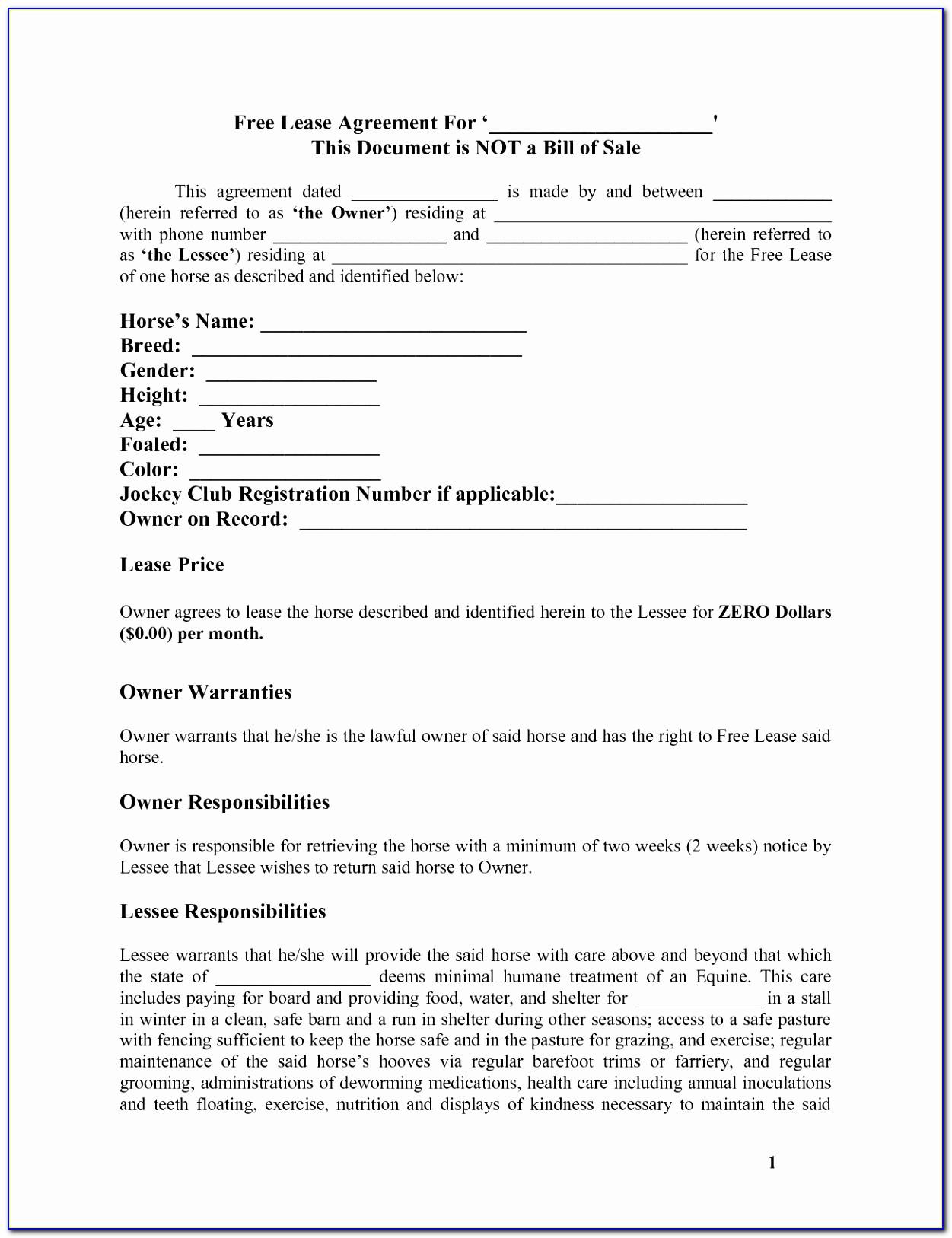 Vehicle Lease Agreement Template Word