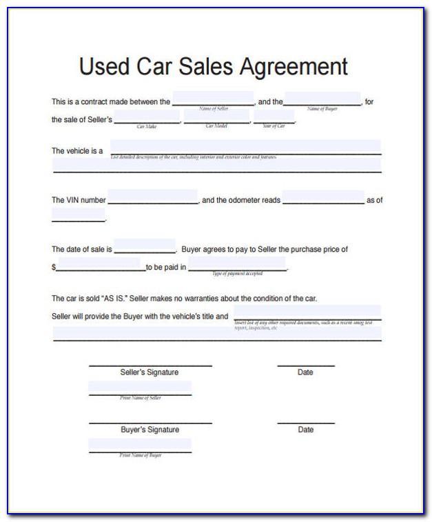 Vehicle Sale Invoice Sample