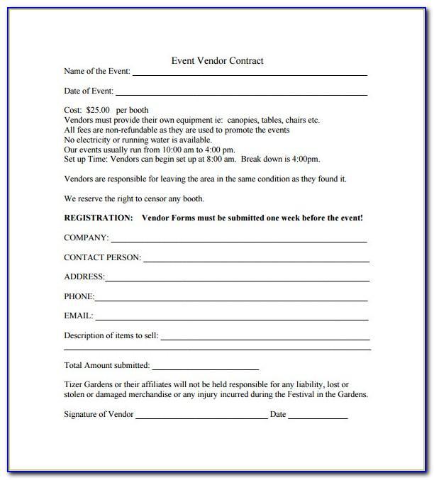 Vendor Application Template Free