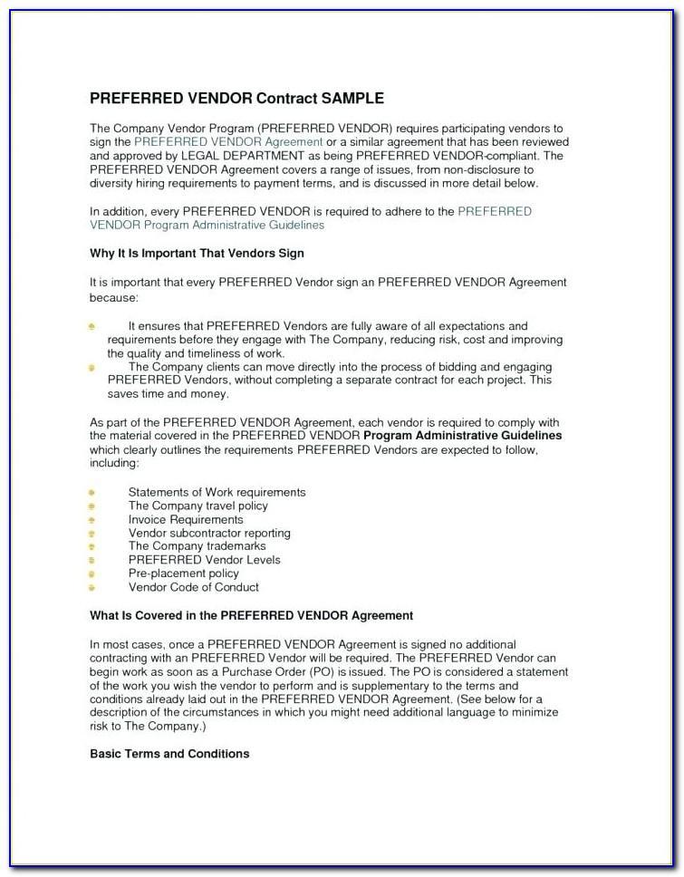 Vendor Finance Contract Sample