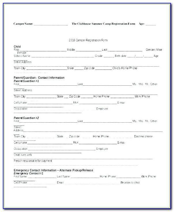 Vendor Registration Form Template In Excel