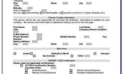 Vendor Registration Form Template India