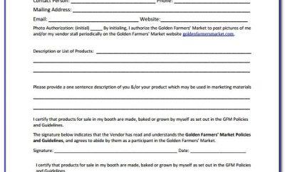 Vendor Registration Form Template Word