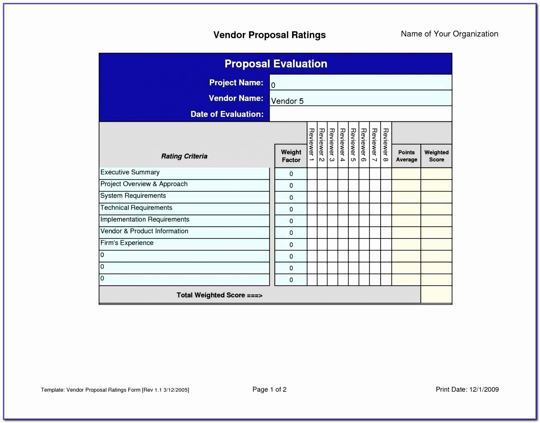 Vendor Risk Management Excel Template