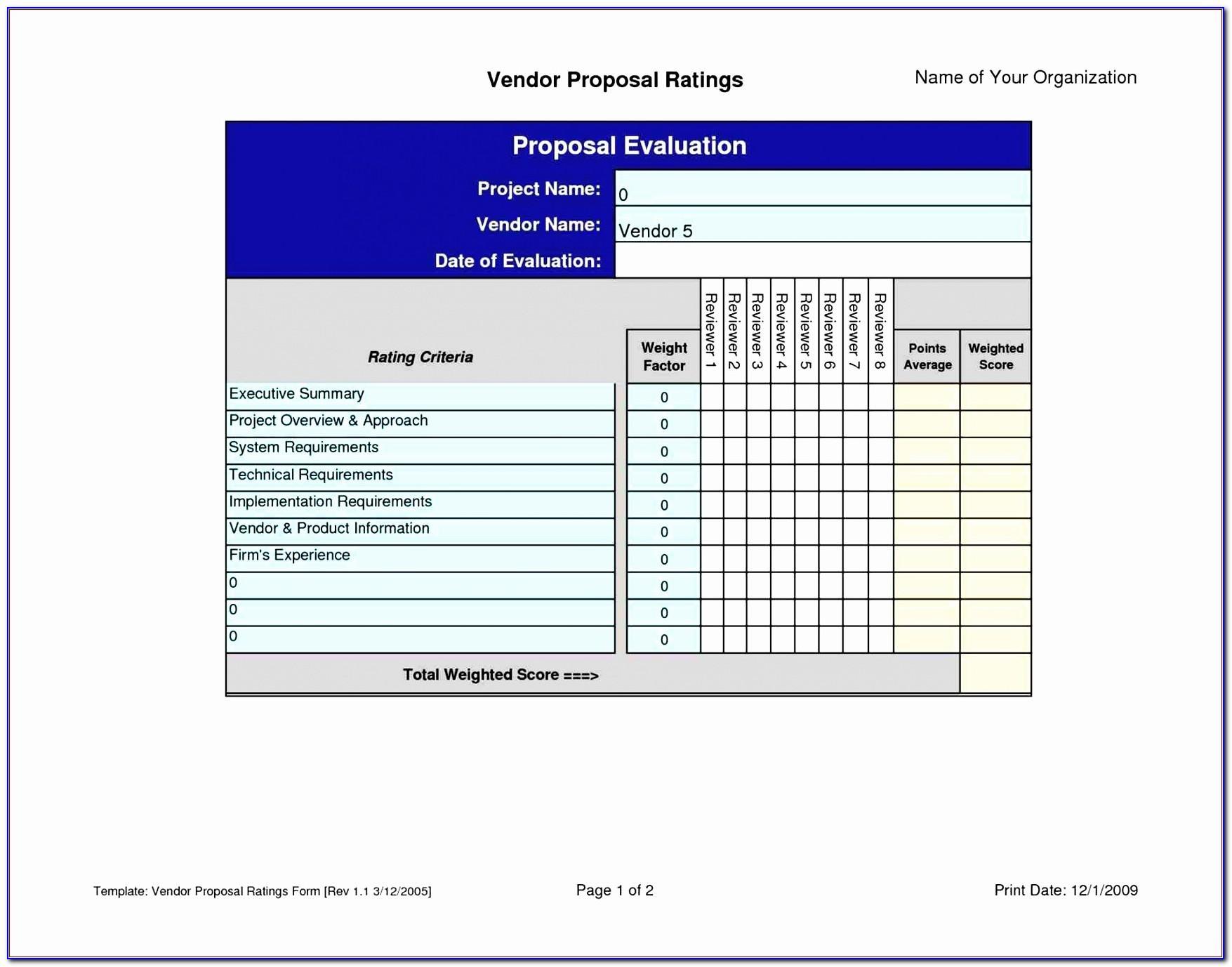 Vendor Risk Management Excel Template