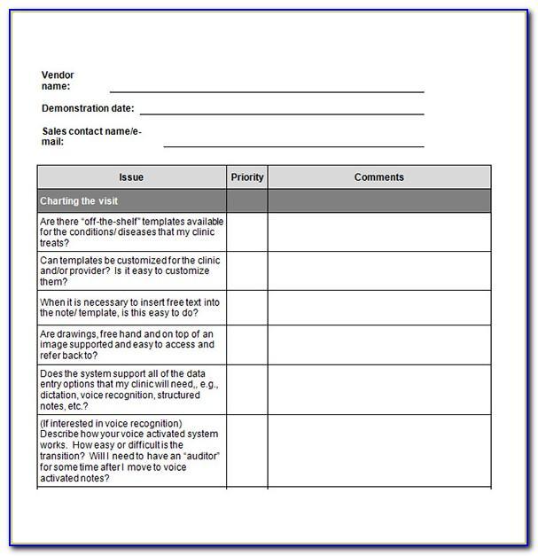 Vendor Setup Form Template
