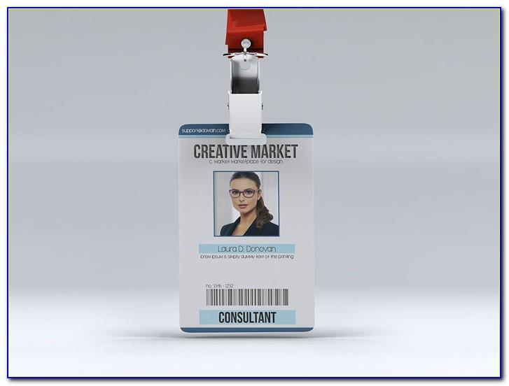 Vertical Id Card Photoshop Template