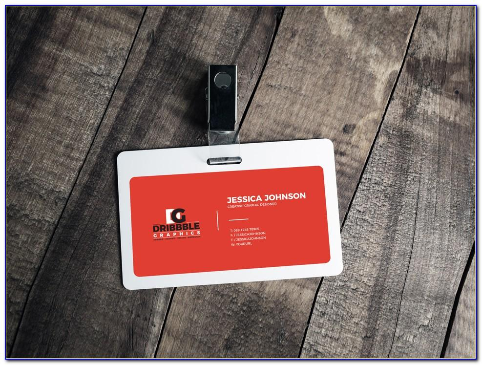 Vertical Id Card Template Psd File Free Download