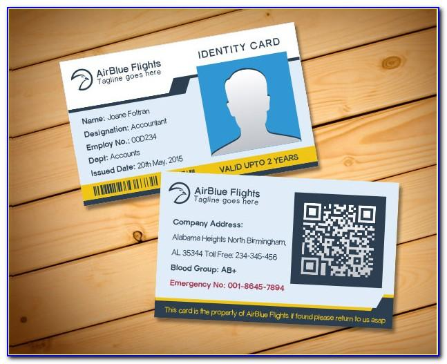 Vertical Id Card Template Psd Free