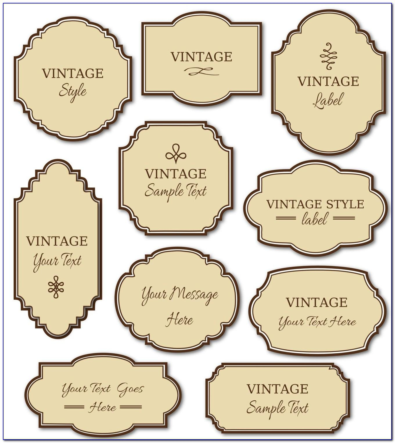 Vintage Liquor Label Template