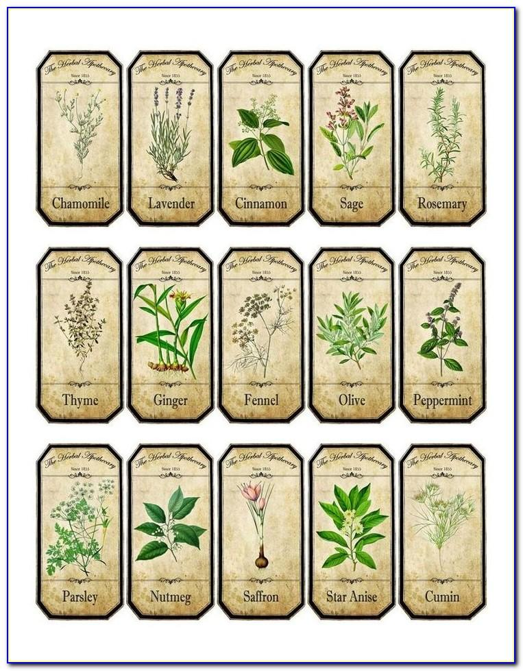 Vintage Spice Label Templates
