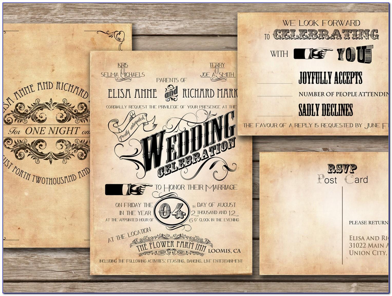 Vintage Style Invitation Templates