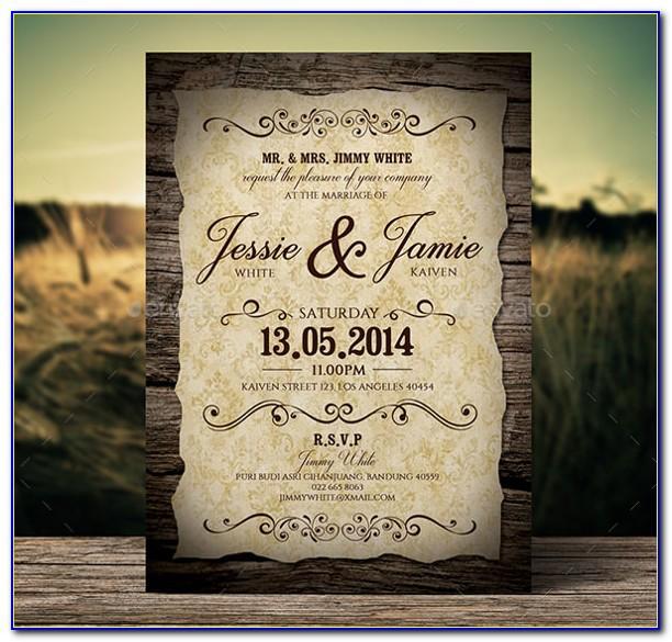 Vintage Wedding Ceremony Program Template
