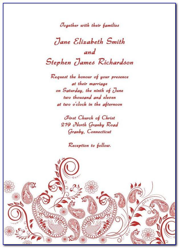 Vintage Wedding Invitation Templates Free Printable