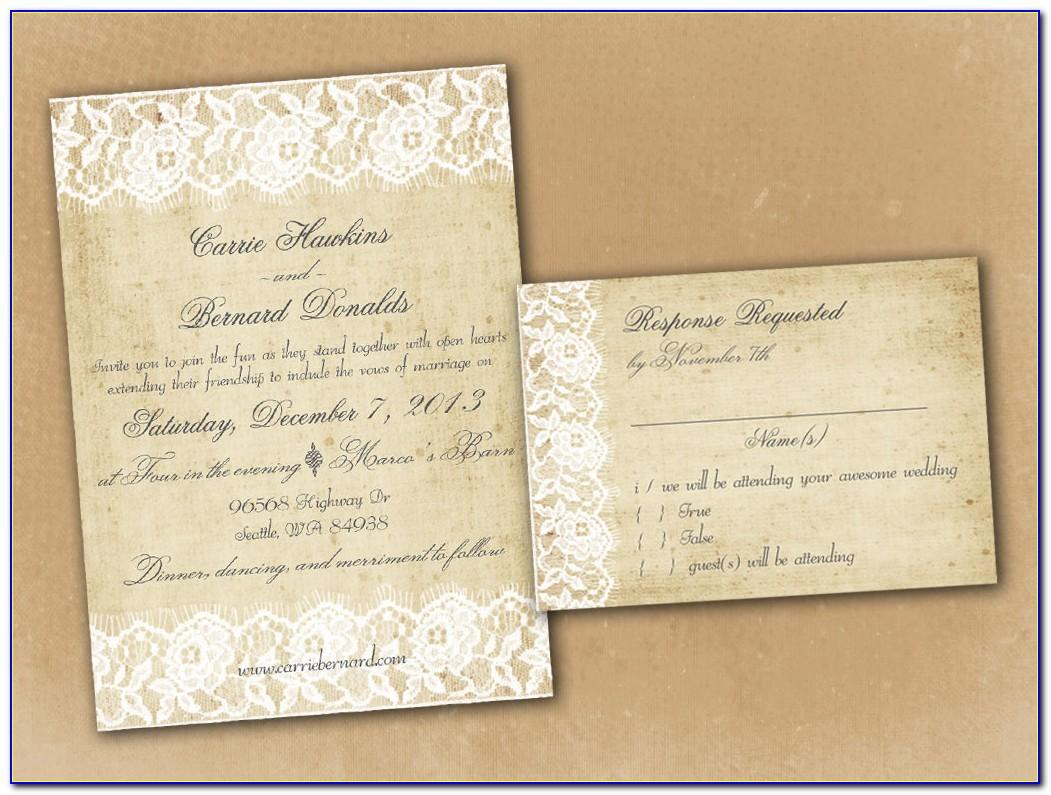 Vintage Wedding Invitation Templates Photoshop