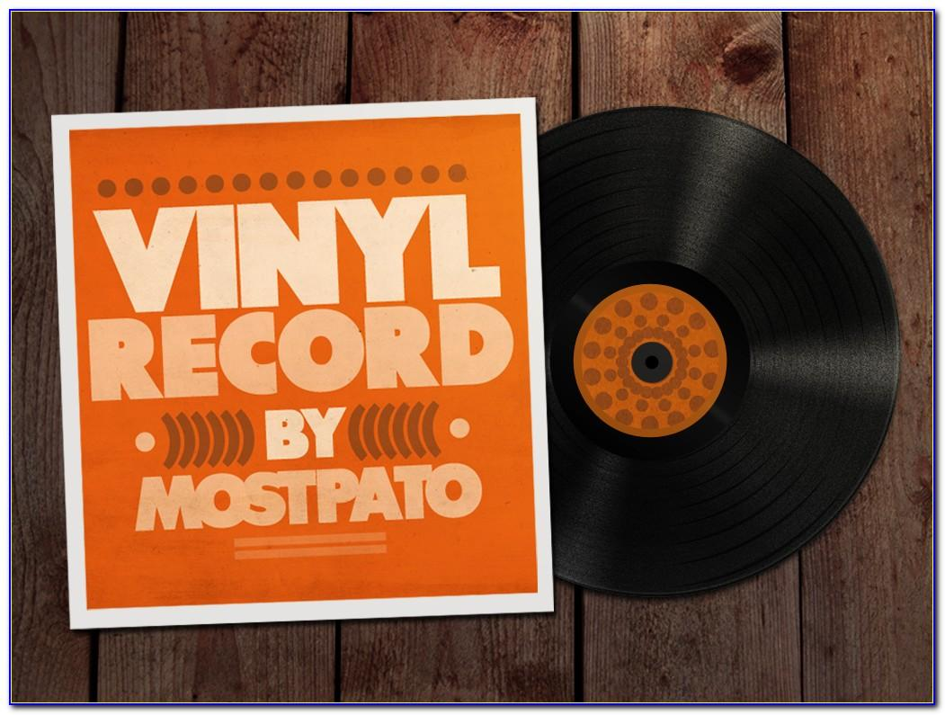 Vinyl Record Sticker Template