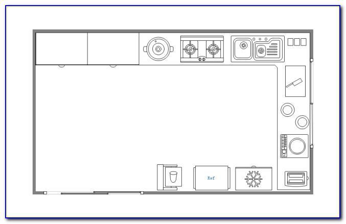 Visio Kitchen Floor Plan Template