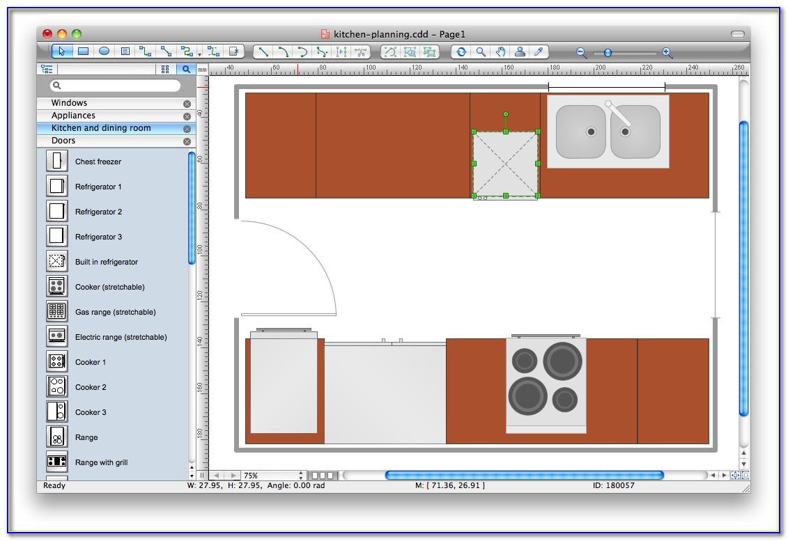 Visio Kitchen Template Metric