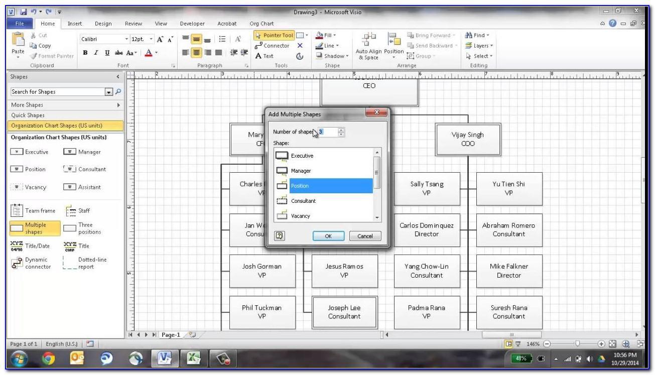 Visio Organization Chart Link Data Shapes